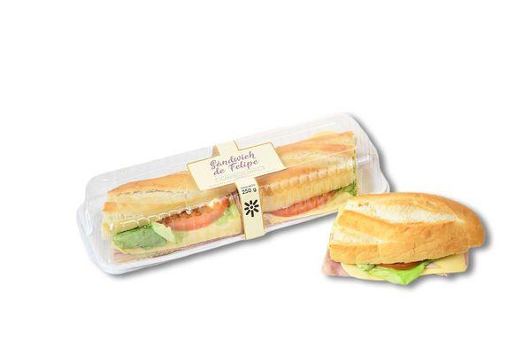 Sandwich de Pan Felipe Relleno TIENDA INGLESA 1 Unidad en Tienda Inglesa
