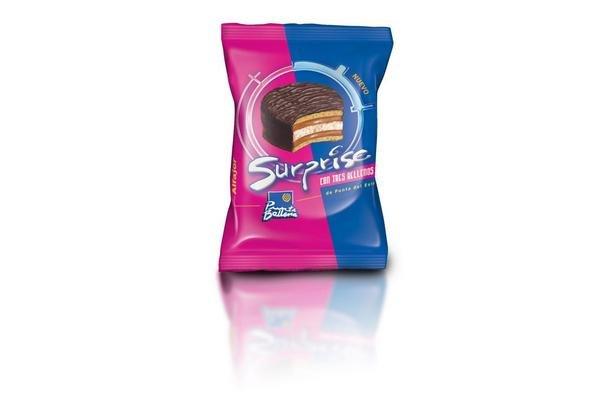Alfajor de Chocolate Surprise Tres Rellenos PUNTA BALLENA 60g en Tienda Inglesa