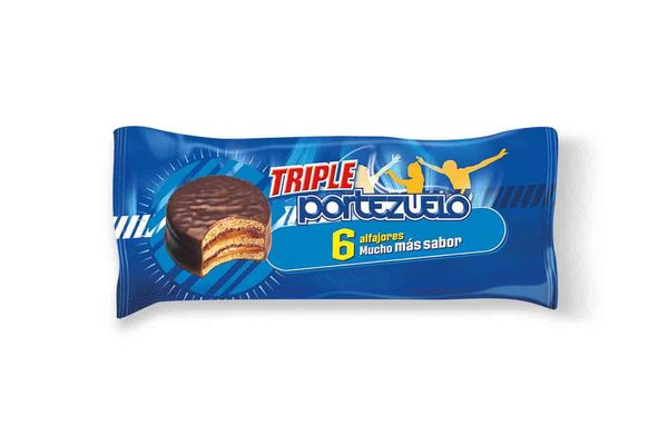 Alfajor PORTEZUELO Triple de Chocolate Pack x 6 Unidades en Tienda Inglesa