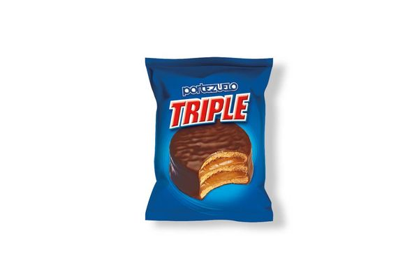 Alfajor PORTEZUELO  Triple de Chocolate 60 gr en Tienda Inglesa