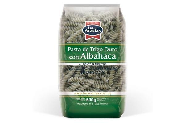 Fideos Tirabuzón de Albahaca LAS ACACIAS 500 gr en Tienda Inglesa