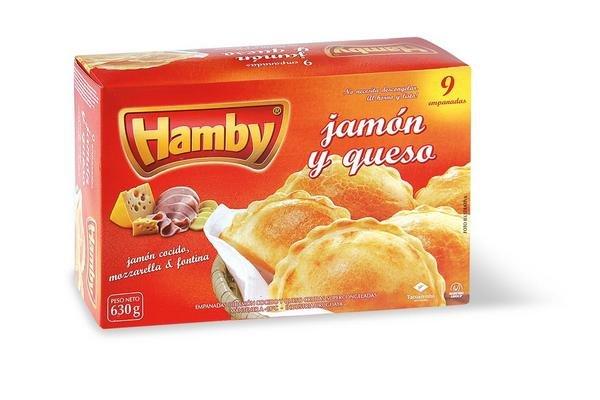 Empanadas Supercongeladas de Jamón Cocido y Queso HAMBY x9 630g en Tienda Inglesa