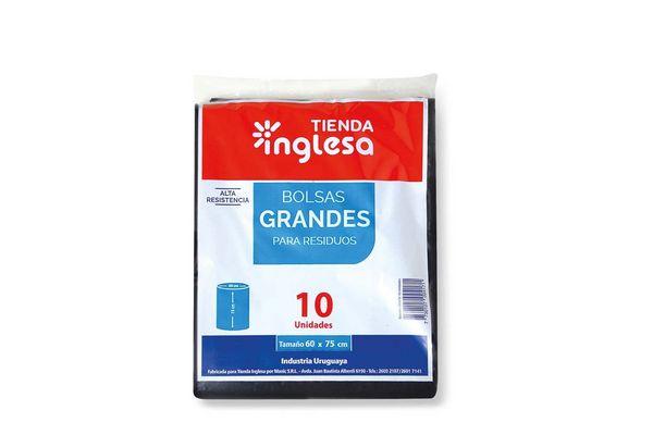 Bolsa de Residuos Negra TIENDA INGLESA 10 Unidades 60 x 75 cm en Tienda Inglesa