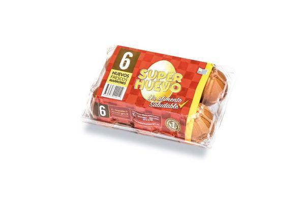 Huevo Frescos SUPERHUEVO Colorados 6 unidades en Tienda Inglesa