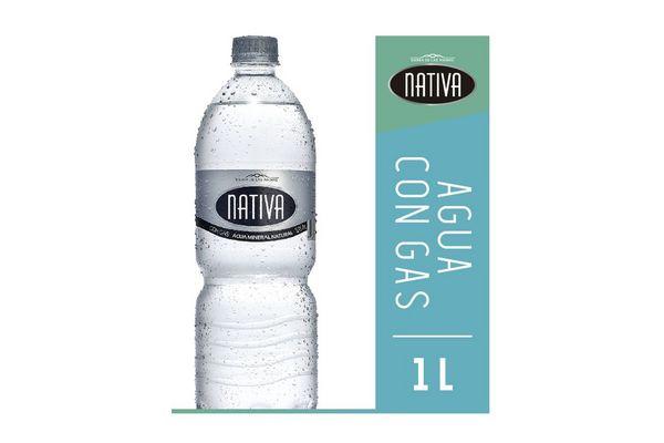 Agua Mineral Natural NATIVA Con Gas 1 L en Tienda Inglesa