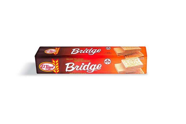 Galletas Obleas BRIDGE Rellenas de Chocolate 140g en Tienda Inglesa
