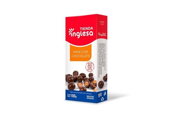 Maní con Chocolate TIENDA INGLESA 100 gr en Tienda Inglesa