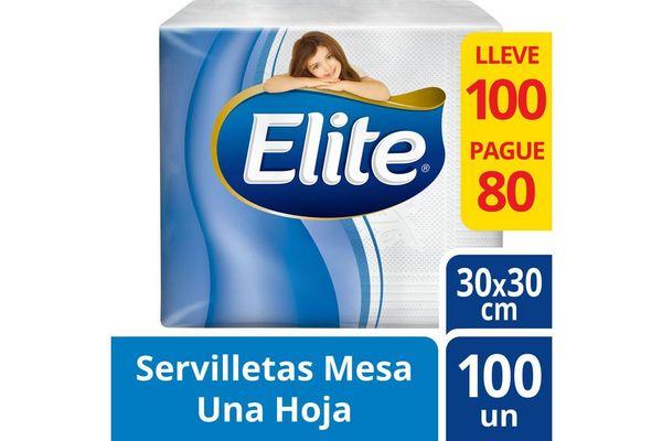 Servilleta ELITE Mesa Blanca Pague 80 lleve 100 en Tienda Inglesa