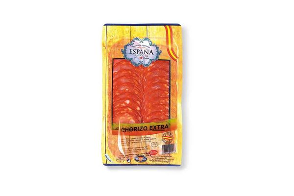 Chorizo Extra ESPAÑA E HIJOS Loncheado 100g en Tienda Inglesa