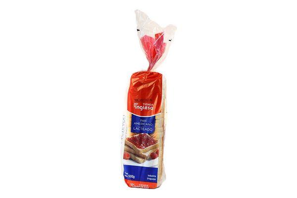 Pan Americano Lactal TIENDA INGLESA 500 gr en Tienda Inglesa