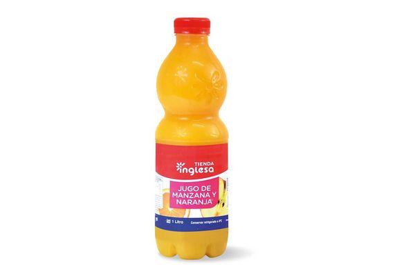 Jugo TIENDA INGLESA sabor Manzana y Naranja  1L ¡Sin agregados Químicos! en Tienda Inglesa