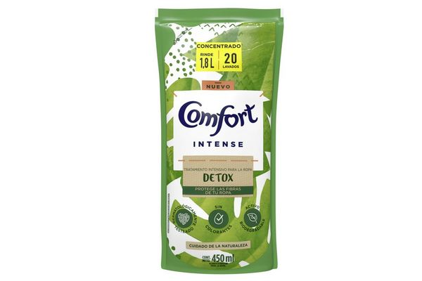 Suavizante Intense Detox COMFORT 450 ml en Tienda Inglesa