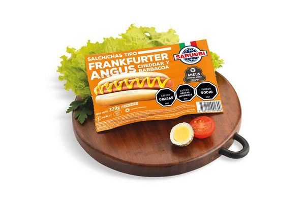 Salchichas Frankfurter Angus de Cheddar y Barbacoa SARUBBI x 8 en Tienda Inglesa