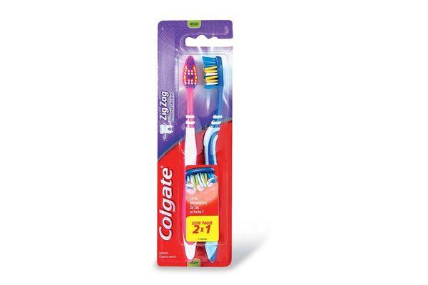 Pack de 2 Cepillos Dentales COLGATE Zig Zag en Tienda Inglesa