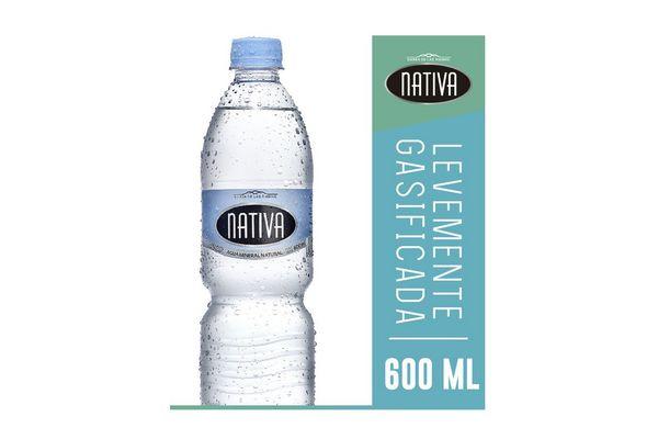 Agua Mineral Natural NATIVA Levemente Gasificada 600 ml en Tienda Inglesa