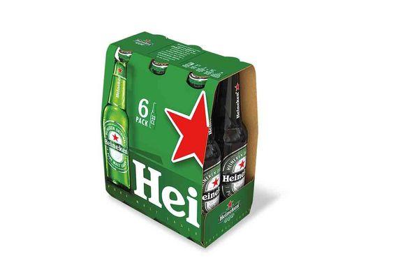 Pack 6 Cervezas HEINEKEN Botella 330ml en Tienda Inglesa