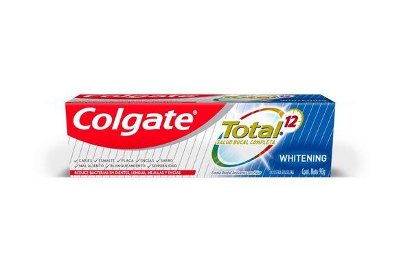Crema Dental COLGATE Total Whitening 12 90 gr en Tienda Inglesa