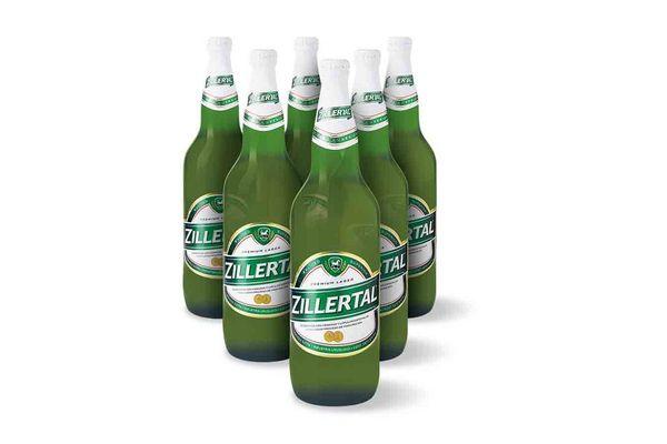Pack de 6 Cervezas en Botellas  ZILLERTAL 970ml en Tienda Inglesa
