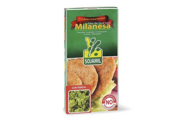 Filet de Soja tipo Milanesa Congelada sabor Perejil SOJAMIL x 6 Unidades 400 gr ¡No contiene Huevo! en Tienda Inglesa