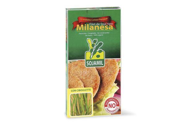 Filet de Soja tipo Milanesa Congelada sabor Ciboulette SOJAMIL x 6 Unidades 400 gr ¡NO contiene Huevo! en Tienda Inglesa