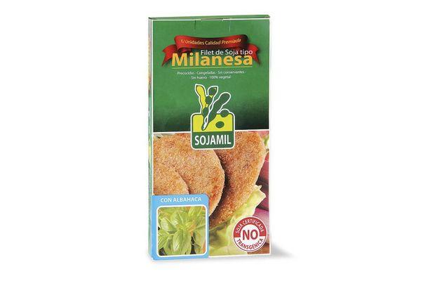 Filet de Soja tipo Milanesa Congelada sabor Albahaca SOJAMIL x6 400 gr ¡NO contiene Huevo! en Tienda Inglesa