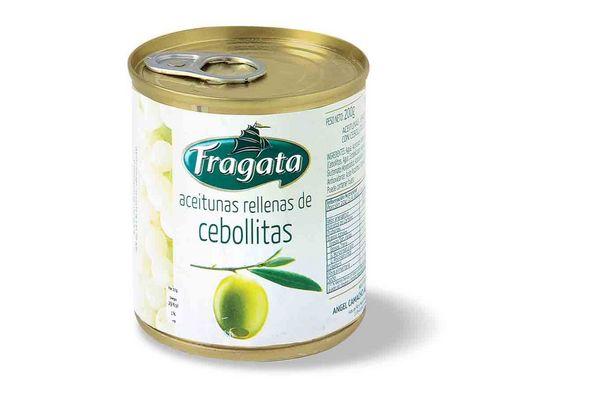 Aceitunas Verdes Rellenas con Cebolla FRAGATA 200 gr en Tienda Inglesa