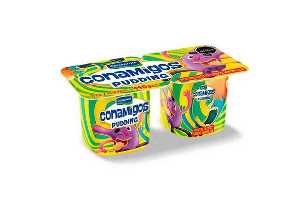 Pack x 2 Postre Pudding CONAPROLE Conamigos sabor Vainilla 110 gr en Tienda Inglesa