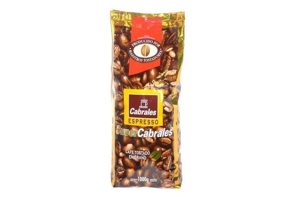 Cafe CABRALES Tostado en Grano 1 Kg en Tienda Inglesa