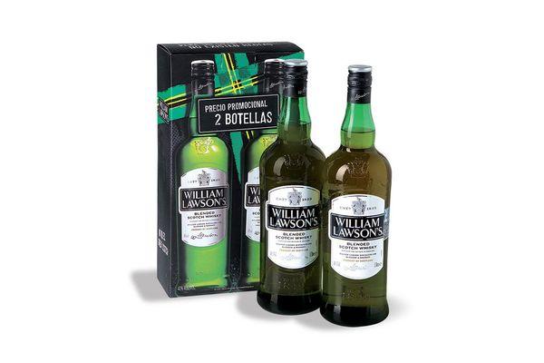 Pack de 2 Whisky WILLIAM LAWSONS 1 L en Tienda Inglesa