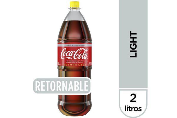 Refresco COCA-COLA Light Sabor Liviano Retornable 2 L en Tienda Inglesa