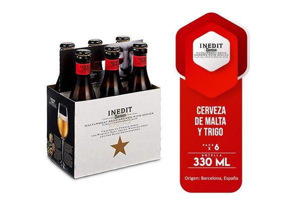 Pack 6 Cervezas ESTRELLA Damm Inedit Botella 330ml en Tienda Inglesa