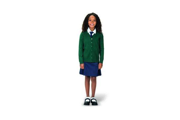 Pollera De Nena Azul Escolar Tabla 14 en Tienda Inglesa
