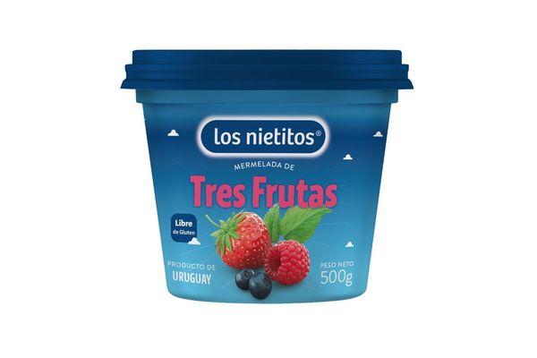 Mermelada LOS NIETITOS 3 Frutas Pote 500g en Tienda Inglesa