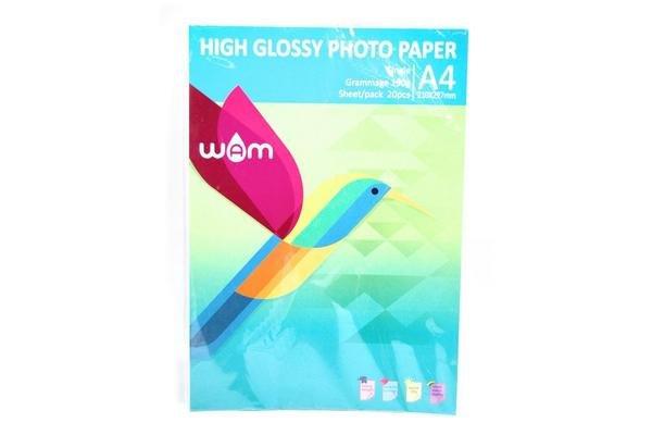 Papel WAM A4 Glossy 180 gr 20 Hojas en Tienda Inglesa