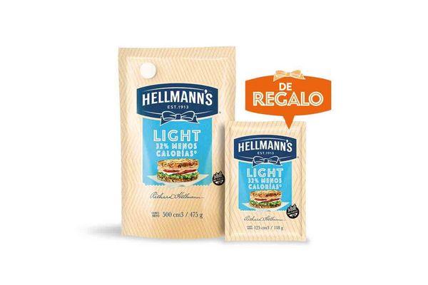 Mayonesa HELLMANNS Doy Pack Light 500 cc + Light 125 cc en Tienda Inglesa