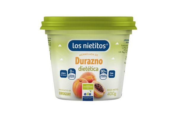 Mermelada Dietética LOS NIETITOS Sabor Durazno Pote 400g en Tienda Inglesa