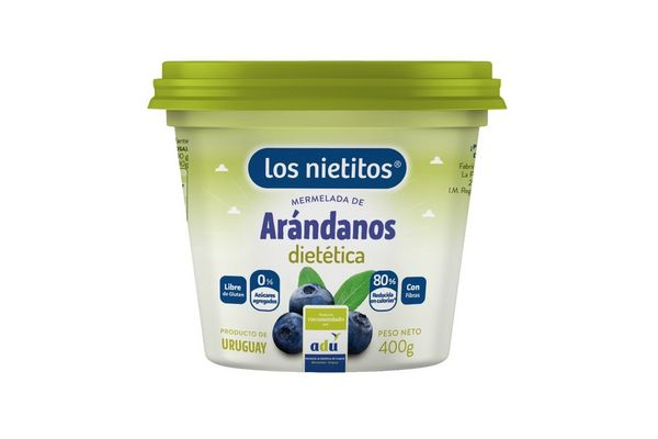 Mermelada Dietética Sabor Arándanos LOS NIETITOS Pote 400 gr en Tienda Inglesa