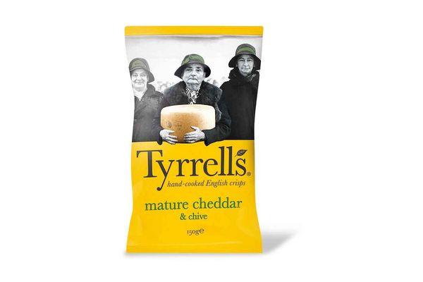 Papas Fritas TYRRELLS Cheddar & Chives 150 gr en Tienda Inglesa