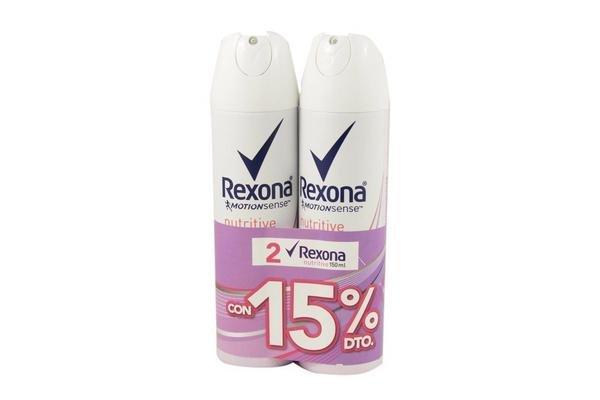 Desodorante REXONA Nutritive Aerosol 90g x 2 Unidades en Tienda Inglesa