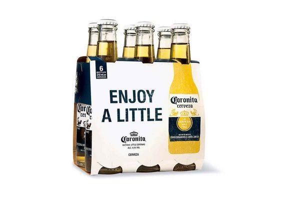 Pack 6 Cervezas CORONITA botella 210ml en Tienda Inglesa