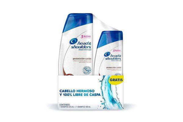 Shampoo HEAD & SHOULDERS Protección y Caída 375ml + 180ml en Tienda Inglesa