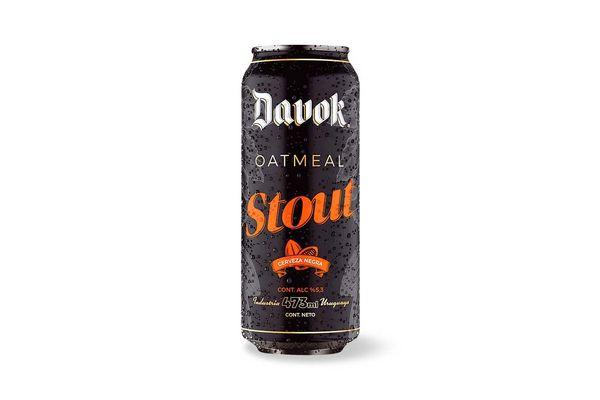Cerveza DAVOK Oatmeal Stout Lata 473ml en Tienda Inglesa