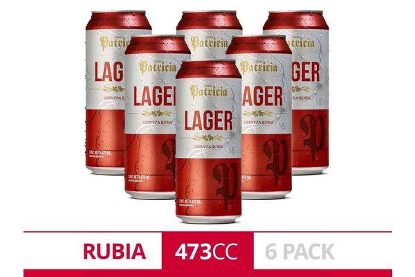 Pack 6 Cervezas PATRICIA Lager Lata 473 ml en Tienda Inglesa