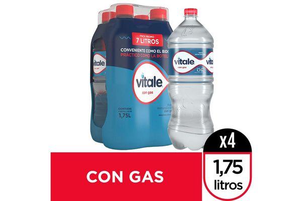 Agua Mineralizada VITALE con Gas Pack con 4 Unidades 1.75 L en Tienda Inglesa