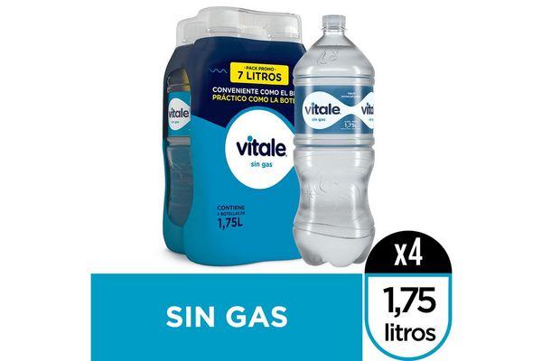 Agua Mineralizada VITALE sin Gas Pack con 4 Unidades 1.75 L en Tienda Inglesa