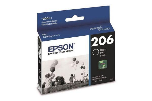 Cartucho EPSON 206 Color Negro para XP-2101 3 ml en Tienda Inglesa