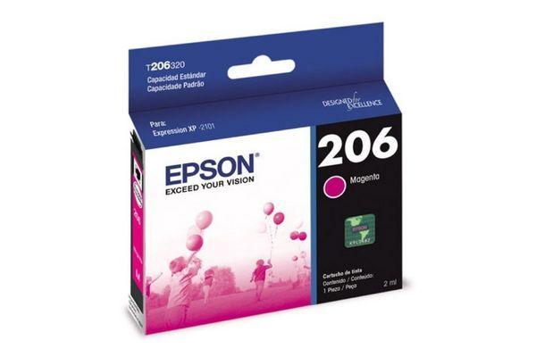 Cartucho EPSON 206 Color Magenta XP-2101 2 ml en Tienda Inglesa