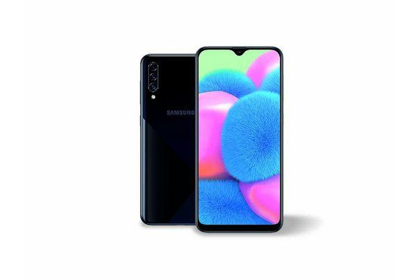 """Celular SAMSUNG Galaxy A30s 6.4"""" 64GB 4GB RAM de RAM Triple Cám 25MP + Frontal 16MP Color Negro en Tienda Inglesa"""
