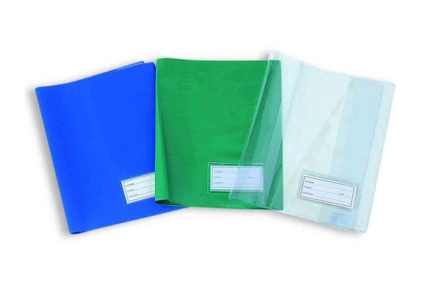 Forro de Cuaderno Plastificado color Verde Agua en Tienda Inglesa