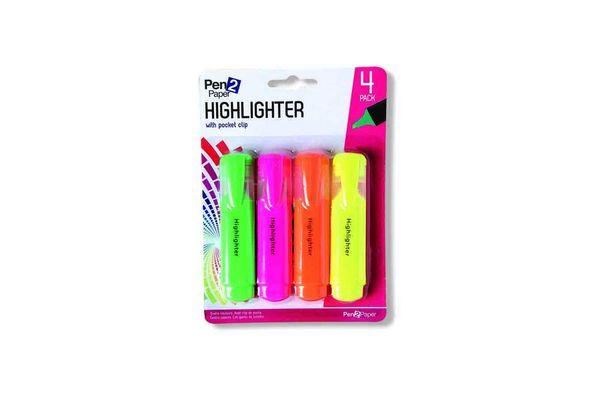 Marcadores x 4 Fluor PEN2PAPER en Tienda Inglesa